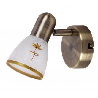 RABALUX 6356 | Art-Flower Rabalux spot svjetiljka elementi koji se mogu okretati 1x E14 bronca, bijelo, zlatno
