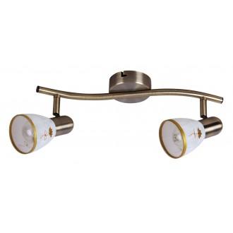 RABALUX 6357 | Art-Flower Rabalux spot svjetiljka elementi koji se mogu okretati 2x E14 bronca, bijelo, zlatno