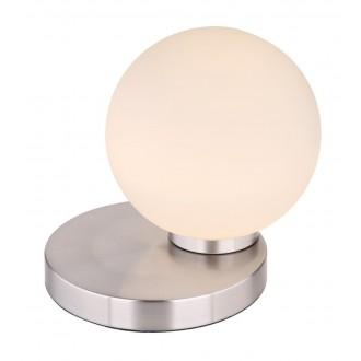 RABALUX 6383 | Trudy Rabalux stolna svjetiljka 17cm tvlaknoepeni prekidač jačina svjetlosti se može podešavati 1x LED 400lm 3000K krom saten, bijelo