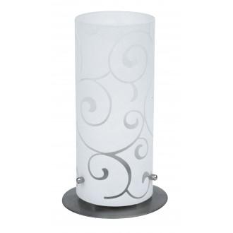 RABALUX 6393 | Harmony-lux1 Rabalux stolna svjetiljka 24,5cm sa prekidačem na kablu 1x E27 saten, krom, opal