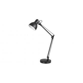 RABALUX 6408 | Carter-RA Rabalux stolna svjetiljka 58cm s prekidačem elementi koji se mogu okretati 1x E14 crno mat