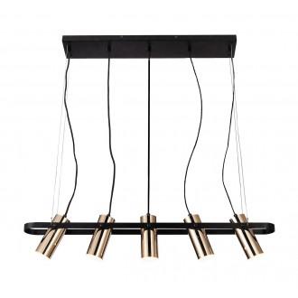 RABALUX 6430 | Raven-RA Rabalux visilice svjetiljka elementi koji se mogu okretati 1x LED 2000lm 3000K crno mat, zlatno