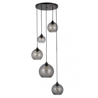 RABALUX 6440 | Tanesha Rabalux visilice svjetiljka 5x E27 crno, dim