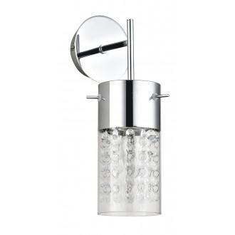 RABALUX 6449 | Waterfall Rabalux zidna svjetiljka 1x E14 krom, prozirna, prozirno