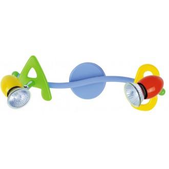 RABALUX 6467 | ABC Rabalux zidna, stropne svjetiljke svjetiljka elementi koji se mogu okretati 2x GU10 višebojno