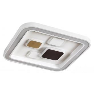 RABALUX 6475 | Hollis Rabalux stropne svjetiljke svjetiljka četvorougaoni daljinski upravljač jačina svjetlosti se može podešavati, sa podešavanjem temperature boje 1x LED 2400lm 3000 <-> 6000K bijelo, zlatno, kafena