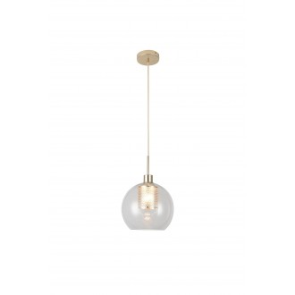 RABALUX 6495 | Philana Rabalux visilice svjetiljka 1x E27 zlatno, prozirno