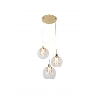 RABALUX 6496 | Philana Rabalux visilice svjetiljka 3x E27 zlatno, prozirno