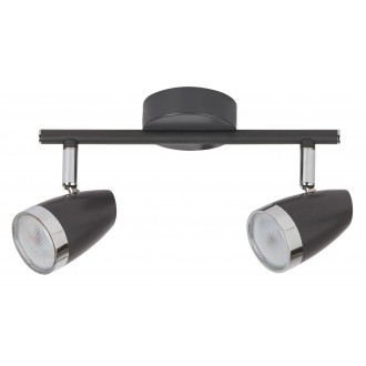 RABALUX 6513 | Rabalux spot svjetiljka elementi koji se mogu okretati 2x LED 560lm 3000K antracit, krom, prozirno