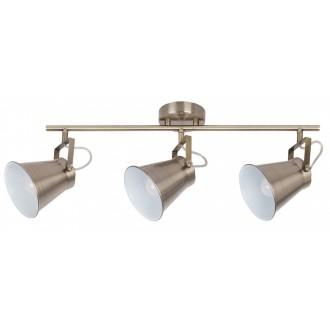 RABALUX 6518 | Martina Rabalux spot svjetiljka elementi koji se mogu okretati 3x E27 bronca, bijelo