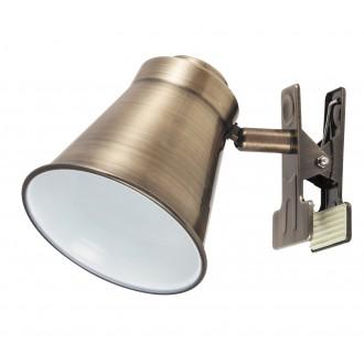 RABALUX 6520 | Martina Rabalux spot svjetiljka sa prekidačem na kablu elementi koji se mogu okretati 1x E27 bronca