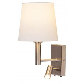 RABALUX 6539 | Harvey Rabalux zidna svjetiljka dva prekidača elementi koji se mogu okretati 1x E27 + 1x LED 180lm krom saten, bijelo