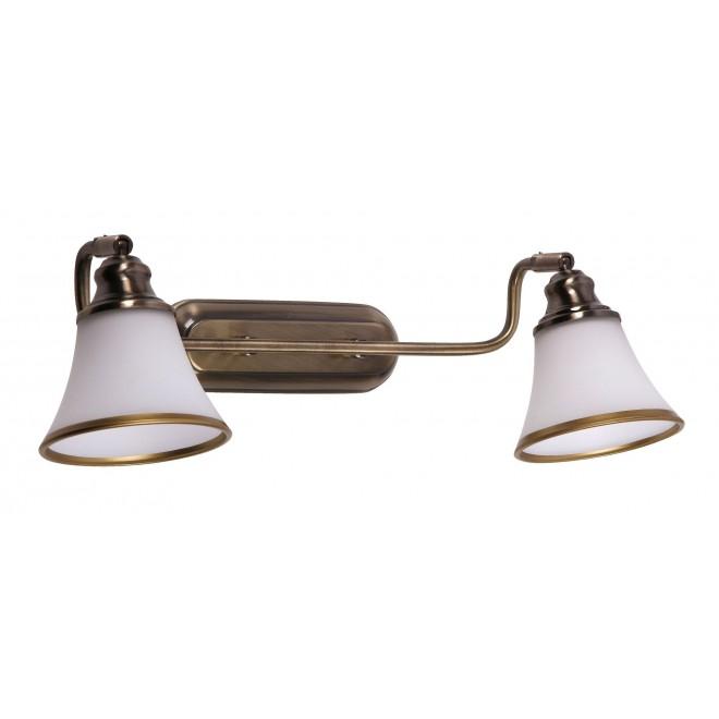 RABALUX 6546 | Grando Rabalux zidna svjetiljka elementi koji se mogu okretati 2x E14 / R50 bronca, bijelo