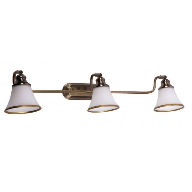 RABALUX 6547 | Grando Rabalux zidna svjetiljka elementi koji se mogu okretati 3x E14 / R50 bronca, bijelo