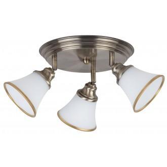 RABALUX 6548 | Grando Rabalux stropne svjetiljke svjetiljka elementi koji se mogu okretati 3x E14 / R50 bronca, bijelo