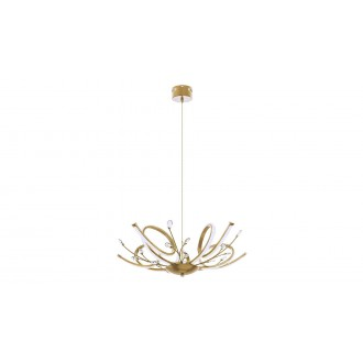 RABALUX 6550 | Romilli Rabalux visilice svjetiljka 1x LED 2250lm 3000K zlatno, bijelo, kristal