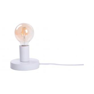 RABALUX 6570 | Bowie Rabalux stolna svjetiljka 9,5cm sa prekidačem na kablu 1x E27 bijelo