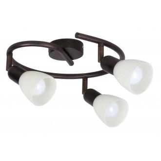 RABALUX 6593 | Soma1 Rabalux spot svjetiljka elementi koji se mogu okretati 3x E14 braon antik, krem