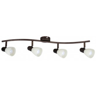RABALUX 6594 | Soma1 Rabalux spot svjetiljka elementi koji se mogu okretati 4x E14 braon antik, krem