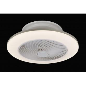 RABALUX 6710 | Dalfon Rabalux stropne svjetiljke ventilatorska lampa okrugli daljinski upravljač jačina svjetlosti se može podešavati, sa podešavanjem temperature boje, timer 1x LED 2100lm 3000 <-> 6000K bijelo