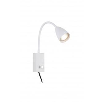 RABALUX 6720 | Mika-RA Rabalux spot svjetiljka s prekidačem elementi koji se mogu okretati, sa kablom i vilastim utikačem 1x GU10 bijelo