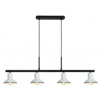 RABALUX 6789 | Maliet Rabalux visilice svjetiljka 4x E14 bijelo, crno