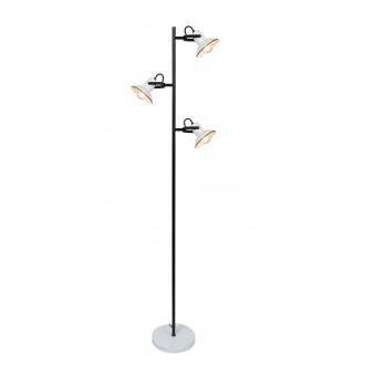 RABALUX 6790 | Maliet Rabalux podna svjetiljka 154cm sa prekidačem na kablu elementi koji se mogu okretati 3x E14 bijelo, crno
