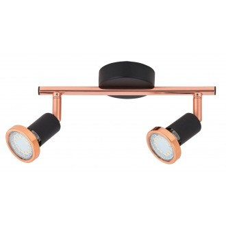 RABALUX 6847   Valentine Rabalux spot svjetiljka elementi koji se mogu okretati 2x GU10 440lm 3000K crno, crveni bakar