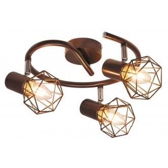 RABALUX 6884 | OdinR Rabalux spot svjetiljka elementi koji se mogu okretati 3x E14 metalik smeđe