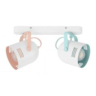 RABALUX 7013 | Minuet Rabalux spot svjetiljka elementi koji se mogu okretati 2x E14 bijelo, menta, boja kajsijinog cvijeta