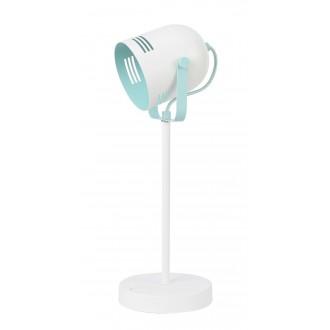 RABALUX 7015 | Minuet Rabalux stolna svjetiljka 40cm s prekidačem elementi koji se mogu okretati 1x E14 bijelo, menta