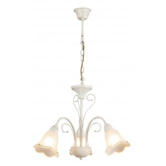 RABALUX 7038 | Eloise Rabalux luster svjetiljka 3x E14 antik bijela, zlatno, bijelo