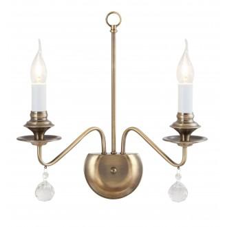RABALUX 7057 | Beatrice Rabalux zidna svjetiljka 2x E14 antik brončano, bijelo, prozirno