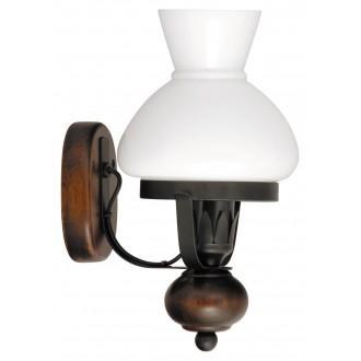 RABALUX 7077 | Petronel Rabalux zidna svjetiljka 1x E27 crno mat, boja oraha, bijelo