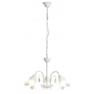 RABALUX 7107 | Bernadette Rabalux luster svjetiljka 3x E14 antik srebrna, bijelo