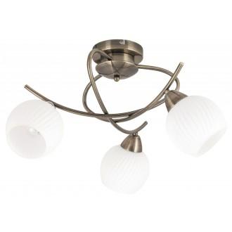 RABALUX 7119   Evangeline Rabalux stropne svjetiljke svjetiljka 3x E14 antik brončano, bijelo
