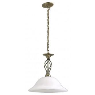RABALUX 7136 | Beckworth Rabalux visilice svjetiljka 1x E27 bronca, bijelo alabaster