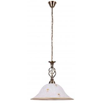 RABALUX 7176 | Art-Flower Rabalux visilice svjetiljka 1x E27 bijelo alabaster, bronca