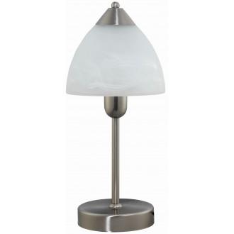 RABALUX 7202   Tristan Rabalux stolna svjetiljka 37cm sa prekidačem na kablu 1x E14 kromni mat, bijelo alabaster