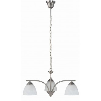 RABALUX 7203 | Tristan Rabalux luster svjetiljka 3x E14 kromni mat, bijelo alabaster