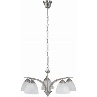 RABALUX 7205 | Tristan Rabalux luster svjetiljka 5x E14 kromni mat, bijelo alabaster