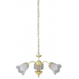 RABALUX 7233 | Rafaella Rabalux luster svjetiljka 3x E14 zlatno, bijelo