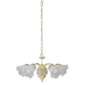 RABALUX 7235   Rafaella Rabalux luster svjetiljka 5x E14 zlatno, bijelo