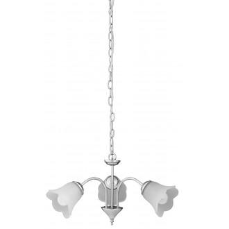 RABALUX 7243 | Rafaella Rabalux luster svjetiljka 3x E14 krom, bijelo