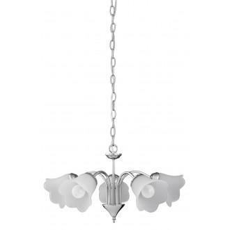RABALUX 7245 | Rafaella Rabalux luster svjetiljka 5x E14 krom, bijelo