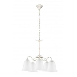 RABALUX 7261 | FabiolaR Rabalux luster svjetiljka 5x E27 antik bijela, opal