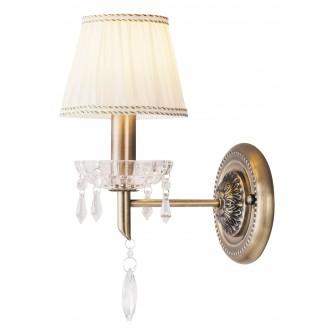 RABALUX 7278 | ClaudiaR Rabalux zidna svjetiljka 1x E14 bronca, bijelo, prozirno