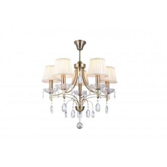 RABALUX 7279 | ClaudiaR Rabalux luster svjetiljka 5x E14 bronca, bijelo, prozirno
