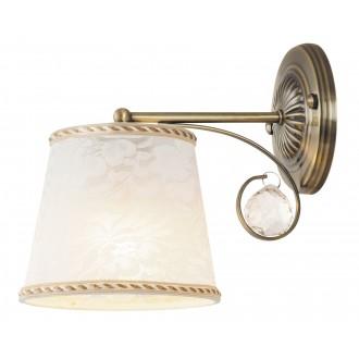 RABALUX 7290 | Valerie Rabalux zidna svjetiljka 1x E14 bronca, bijelo, prozirno