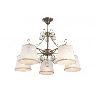 RABALUX 7291 | Valerie Rabalux luster svjetiljka 5x E14 bronca, bijelo, prozirno